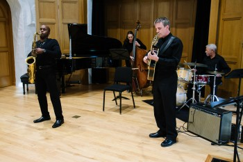 Pasadena Conservatory of Music's Jazz Department: Dr. Ray Briggs, Steve Cotter, Sherry Luchette, Gary Fukushima Special guestKenny Elliott on drums