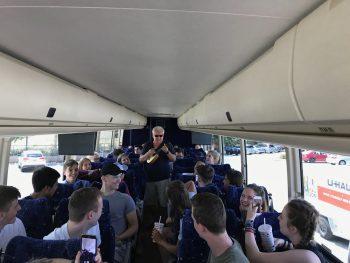 Musicians in bus